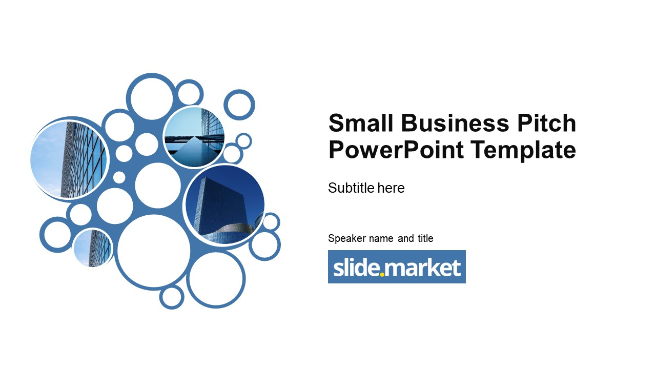 Small Business Pitch Powerpoint Template Slide Market