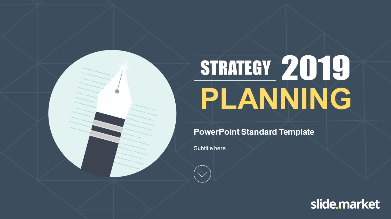 Strategy Planning Powerpoint Template Slide Market